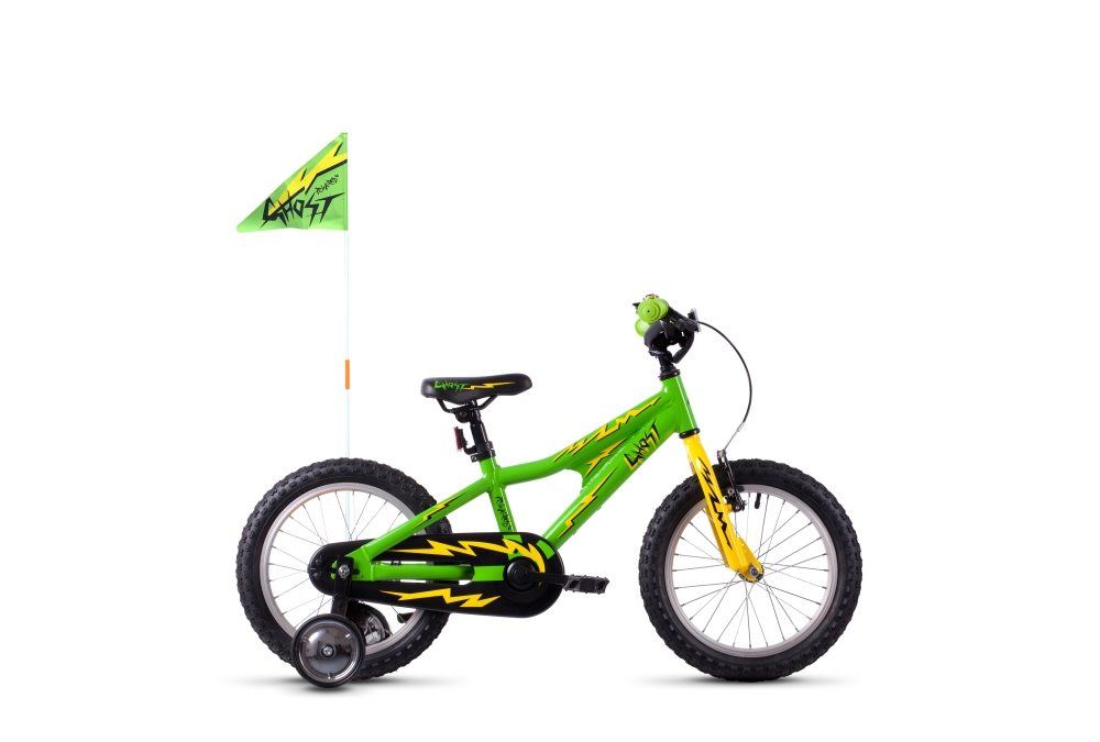 GHOST POWERKID AL 16 K riot green / cane yellow / night black 16