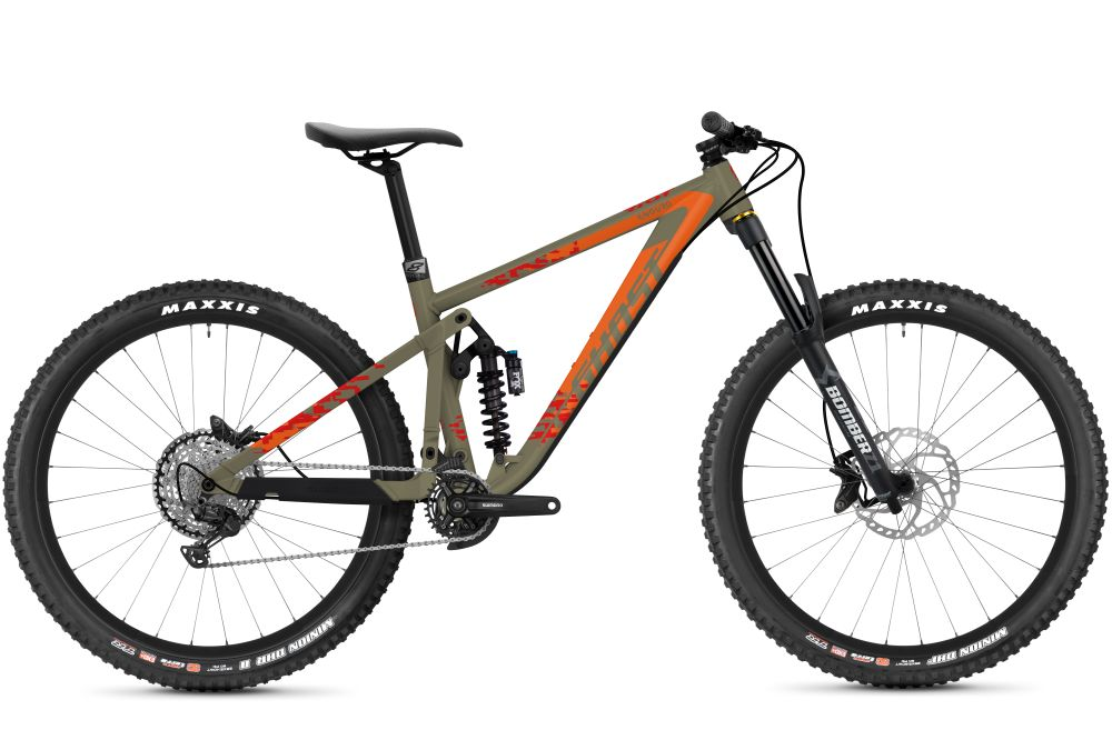 GHOST Riot Enduro AL Universal mud / orange L